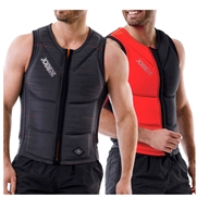 Gilet d'impact Jobe Reversible Zipper Fury Red/ Grey