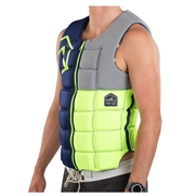 Gilet d'impact Liquid Force Flex Comp Blue/Green