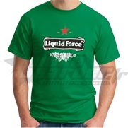 T-shirt Liquid Force Red Light Green