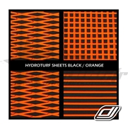 Tapis Hydroturf en rouleau Black / Orange *