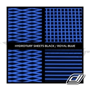 Tapis hydroturf en rouleau Black / Royal Blue