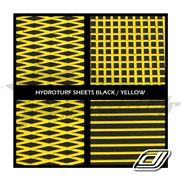 Tapis Hydroturf en rouleau Black on Yellow *