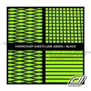 Tapis Hydroturf en rouleau Lime Green on Black *