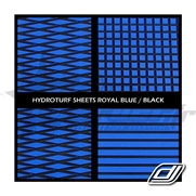 Tapis Hydroturf en rouleau Royal Blue on Black