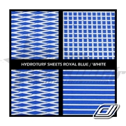 Tapis Hydroturf en rouleau Royal Blue / White
